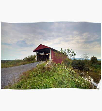 The Historic Hayes Covered Bridge Poster