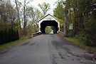 Driving Into The Hassenplug Covered Bridge by Gene Walls