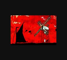 A digital painting of Horsey Windmill & Wherry Unisex T-Shirt