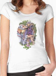 JoJo's Bizarre Adventure - Gyro & Johnny Joestar Women's Fitted Scoop T-Shirt