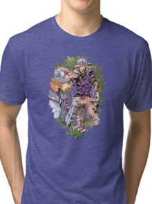 JoJo's Bizarre Adventure - Gyro & Johnny Joestar Tri-blend T-Shirt