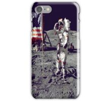 Cernan Jump Salutes Flag iPhone Case iPhone Case/Skin