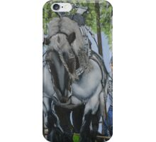 Brabant Horse at work iPhone Case/Skin
