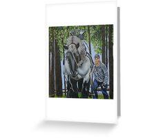 Brabant Horse at work Greeting Card
