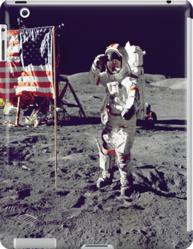 Cernan  Salutes Flag iPad Case by ipadjohn