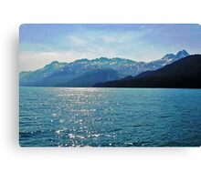 Mountain Views from Prince William Sound Canvas Print