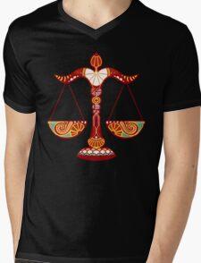 Libra Mens V-Neck T-Shirt