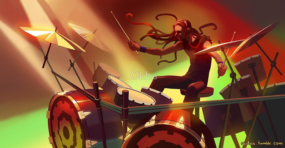 Pickles the Drummer by Okha