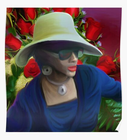 Lady in hat Poster
