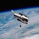 Hubble Orbiting earth iPad Case by ipadjohn