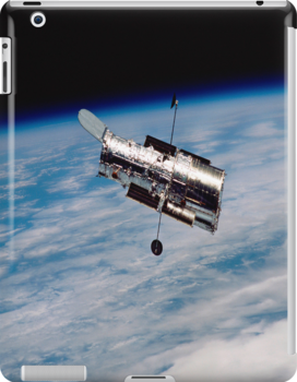 Hubble Orbiting earth iPad Case by ipadjohn