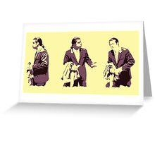 Vincent Vega hmm Greeting Card