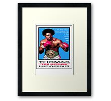 "BOXING LEGENDS: THOMAS ""THE HITMAN"" HEARNS Framed Print"