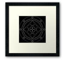 Mandala - Concentric Flower Petals Framed Print