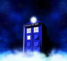 Tardis Blue in Cloud by alifart