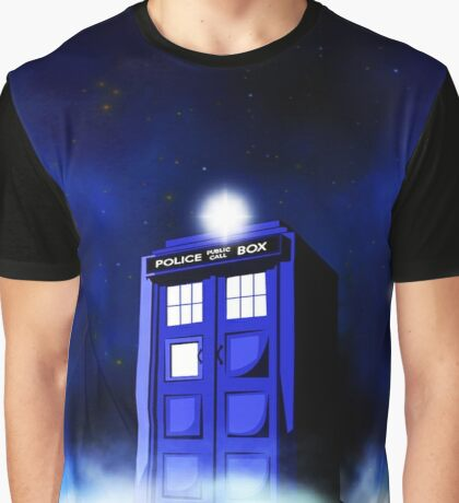 Tardis Blue in Cloud Graphic T-Shirt