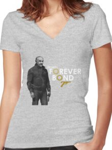 Sean Connery is...  Forever Bond Women's Fitted V-Neck T-Shirt