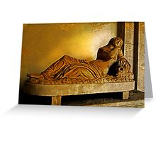 Female Sarcophagus, Vatican Museum Greeting Card