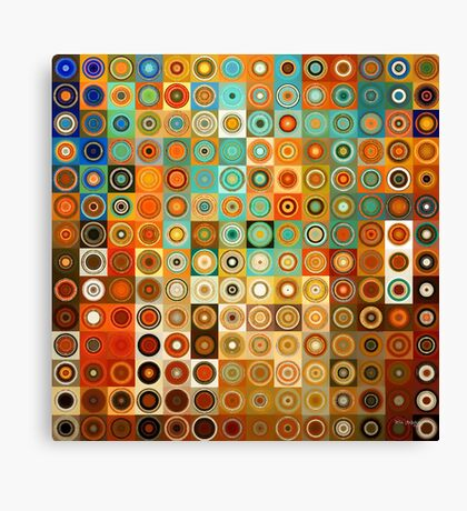 Circles and Squares 1. Modern Geometric Art Canvas Print