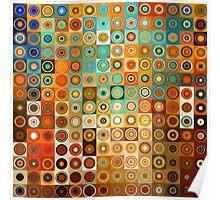 Circles and Squares 1. Modern Geometric Art Poster