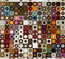 Circles and Squares 3. Modern Geometric Art by Mark Lawrence