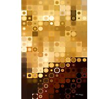 Circles and Squares 4. Modern Geometric Art Photographic Print
