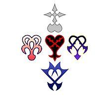 Kingdom Hearts Logos Photographic Print