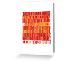 Circles and Squares 5. Modern Home Decor Greeting Card