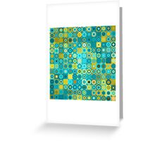 Circles and Squares 6. Modern Home Decor Greeting Card