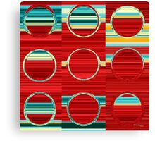 Circles and Squares 8. Modern Art Decor Canvas Print
