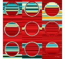 Circles and Squares 8. Modern Art Decor Photographic Print