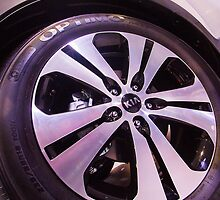 Kia Sportage Wheel  [ Print & iPad / iPod / iPhone Case ] by Mauricio Santana
