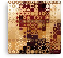 Circles and Squares 10. Modern Geometric Art Canvas Print