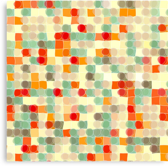 Circles and Squares 12. Modern Geometric Art by Mark Lawrence