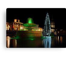 Christmas Day. Trafalgar Square. Canvas Print