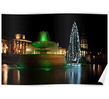 Christmas Day. Trafalgar Square. Poster