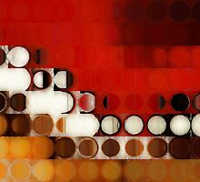 Circles and Squares 17. Modern Geometric Art by Mark Lawrence