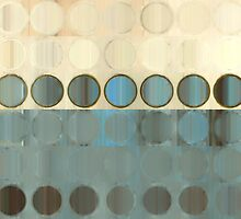 Circles and Squares 18. Modern Geometric Art by Mark Lawrence