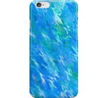 Abstract Blue Lagoon iPhone Case/Skin