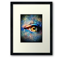 Through the Time Travelers Eye Framed Print