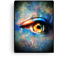 Through the Time Travelers Eye Canvas Print