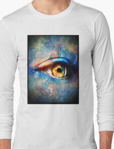 Through the Time Travelers Eye Long Sleeve T-Shirt