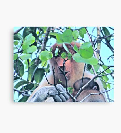 SPARSE CONSUMPTION Canvas Print