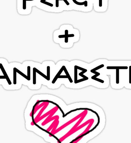 Percy+Annabeth Shirt (2nd edition) Sticker