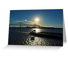Mississippi River, Baton Rouge, Louisiana Greeting Card