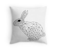Low Poly Rabbit Throw Pillow