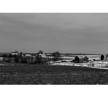 Farmland (black and white) Photographic Print
