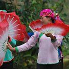 Dancers in village near Sapa by Julie Sherlock