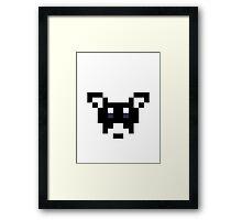 8-Bit Dog Framed Print