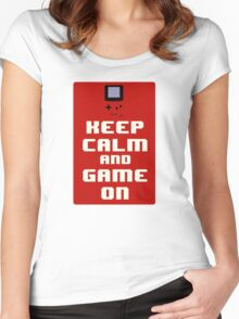 Keep Calm and Game On Women's Fitted Scoop T-Shirt